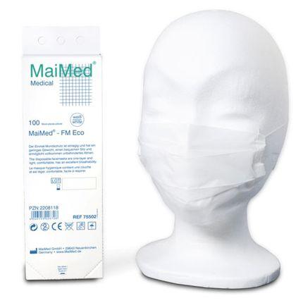 Maimed Einmal-Mundschutz 1-lagig MaiMed - FM Eco mit beidseitigem Elastikband 001
