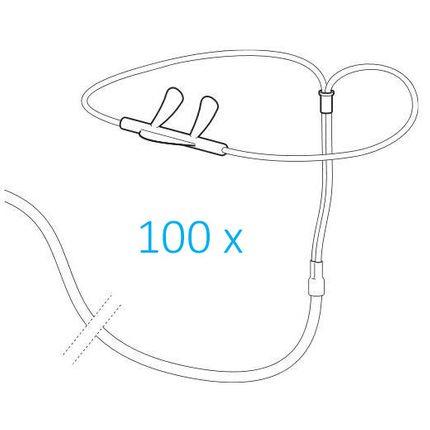 Weinmann Set 100 Staudruck-Nasenbrillen, 330 mm, mit einem Adapter, Zubehör SOMNOcheck/SOMNOcheck effort