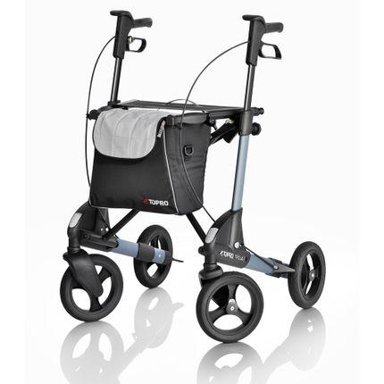 Rollator Topro Troja 2G M Premium Einkaufstasche, Softbereifung, dunkelgrau 001