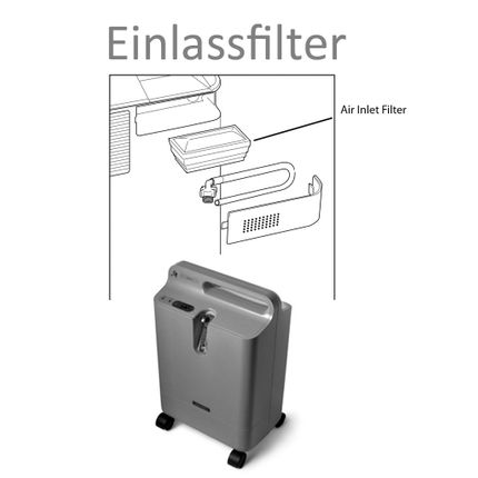 Original Filter für Philips EverFlo Sauerstoffkonzentrator, Inlet-Filter-Kassette