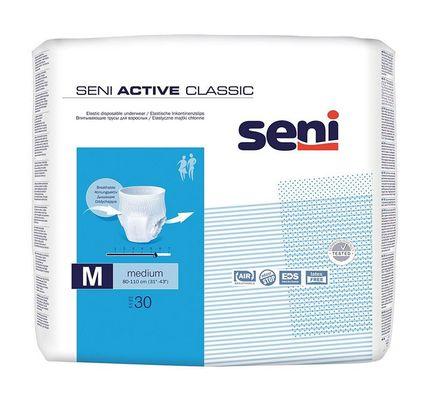 Seni Active Classic Medium, atmungsaktive, elastische Inkontinenzslips, Pants, M (P=30)