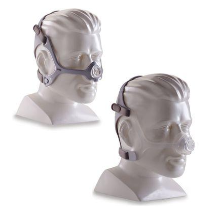 Philips Respironics WISP CPAP Maske, Nasenmaske mit Ausatemventil, inkl. Kopfband, mit Stoff- oder Silikonrahmen, Minimalkontaktfläche
