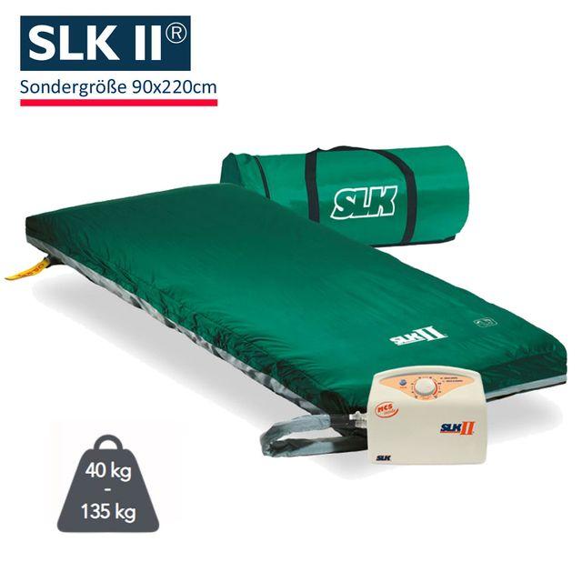 SLK II Wechseldruckmatratze, Sondergröße 90x220cm, Anti Dekubitus Matratze, SLK 2 Therapiesystem bis Grad 3, bis 135 kg
