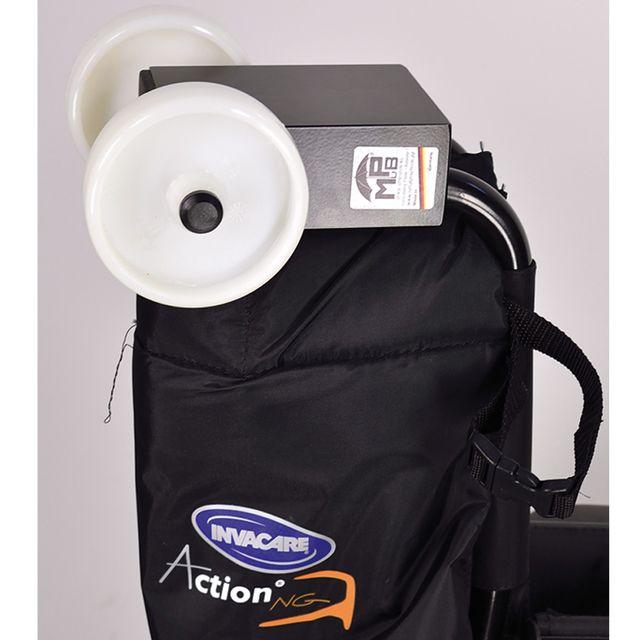 MPB Rollstuhlverladehilfe für Faltrollstühle, einfach zum aufschieben auf die zusammengedrückten Schiebegriffe