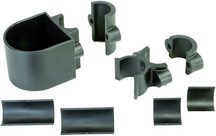 Stockhalter für Rollstühle u. Rollatoren, Universal,  für 22 oder 25,4 mm Ø