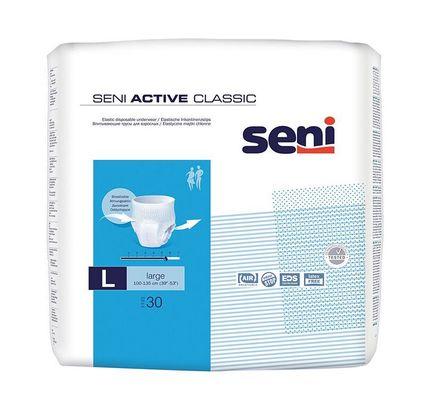 Seni Active Classic Large, atmungsaktive, elastische Inkontinenzslips, Pants, L (P=30)