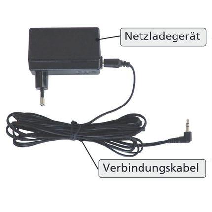 AKS Ladegerät für AKS Patientenlifter (Foldy, Clino II, Foldo, Dualo) Original Netzladegerät inkl. Verbindungskabel 001