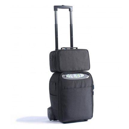 DeVilbiss iGo mobiler Sauerstoffkonzentrator, das tragbare Sauerstoffgerät, mit Dauerflow (Nacht), inkl. Transportwagen