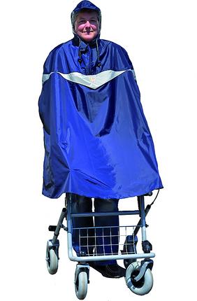 MPB Rollator Poncho, Nylon, wasserfest, blau