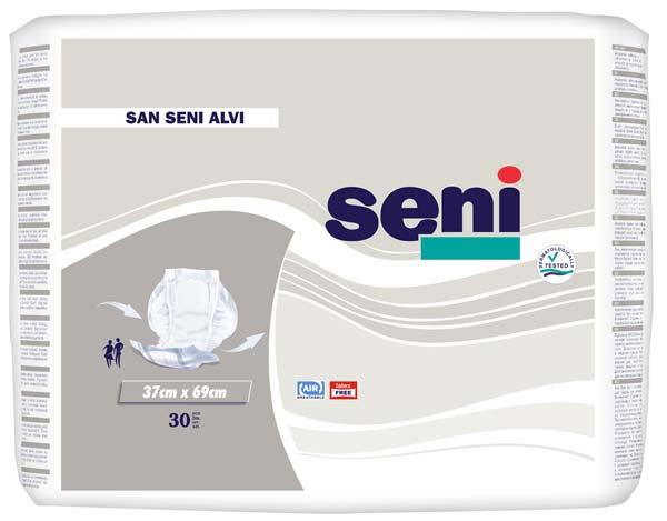 San Seni Alvi Vorlagen (P=30), atmungsaktive Stuhlvorlage