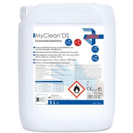 MyClean DS Flächen- und Schnelldesinfektion, neutral, 5 Liter/Kanister