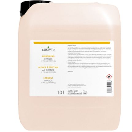 cosiMed Einreibung Orange (45 Vol.% 2-Propanol) 10L