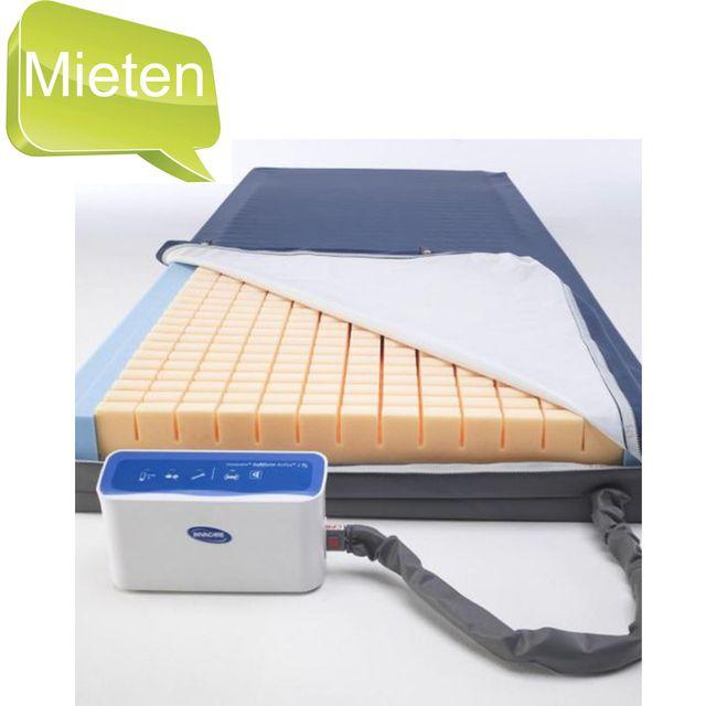 MIETEN = Invacare Softform Active 2 Rx, Anti-Dekubitus-Matratze 90x200cm, Hybrid-System, Wechseldruck & Weichlagerung in einem System, bis Grad 4, bis 247 kg