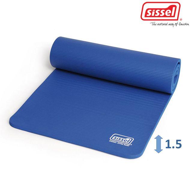 Sissel Gymnastikmatte 1.5 cm, blau, die optimale Trainingsunterlage, Trainingsmatte für Fitness, optimale Dämpfungseigenschaften, Sissel Gym Mat Premium 180x60cm,