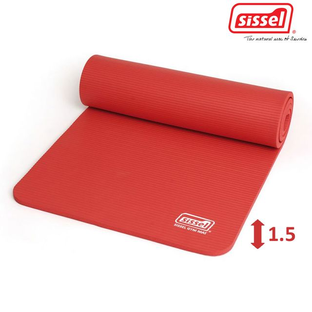 Sissel Gymnastikmatte 1.5 cm, rot, die optimale Trainingsunterlage, Trainingsmatte für Fitness, optimale Dämpfungseigenschaften, Sissel Gym Mat Premium 180x60cm,