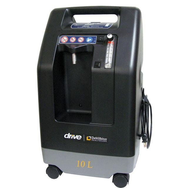 Drive DeVilbiss Compact 1025KS Sauerstoffkonzentrator, 10L Hochleistungs O2-Gerät, für Patienten mit erhöhtem Sauerstoffbedarf