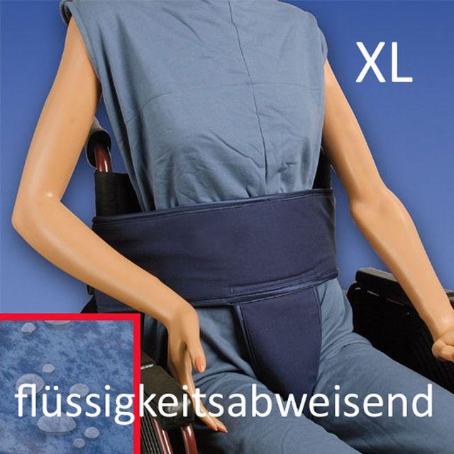 Biocare Sitzhose Klett, flüssigkeitsabweisend XL, für Hüfte und Becken, Patientensicherungssystem, für Personen im Rollstuhl mit instabilem Unterkörper