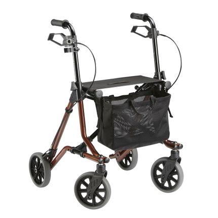 Dietz Rollator Taima M Leichtgewicht nur 6,5kg Designrollator in Trendfarbe braun-metallic 001