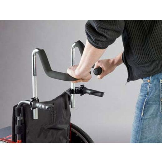 Schiebegrifferhöhung Easy Push von Rolko, höhenverstellbare Schiebegriffverlängerung für Rollstühle