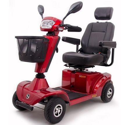Sterling S400 6 km/h, rot, Elektromobil bis 136kg belastbar, das schöne Seniorenmobil