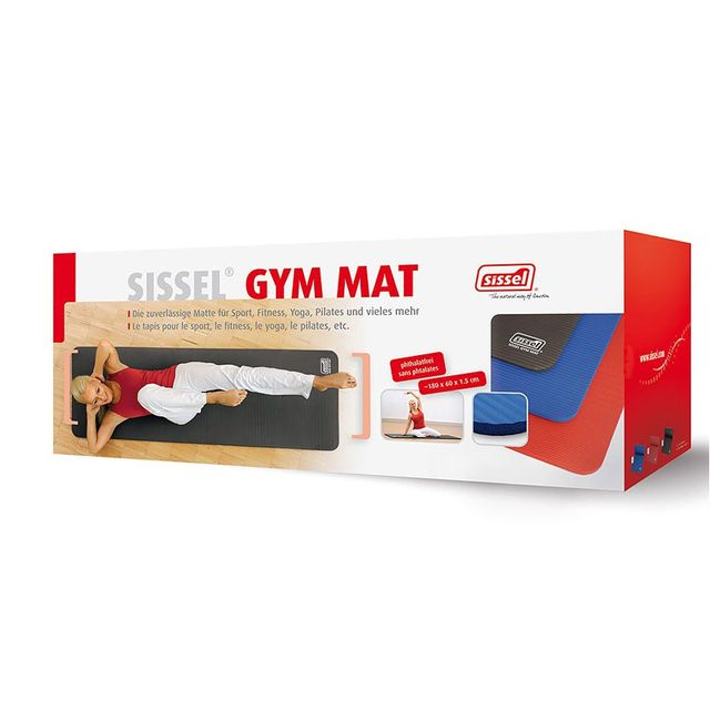 Sissel Gymnastikmatte anthrazit, die optimal Trainingsunterlage im Sport- und Fitnessbereich oder für zu Hause