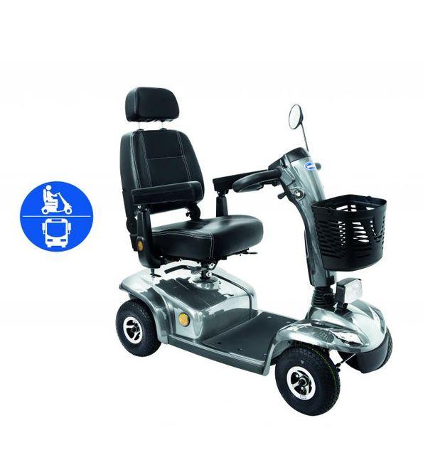 Elektromobil Leo ÖPNV, 6 km/h silber, Scooter von Invacare das smarte Seniorenmobil/E-Mobil, NEU: mit ÖPNV-Zulassung für Bus & Bahn