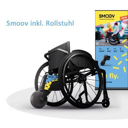 Alber Smoov one inkl. Rollstuhl Küschall K-Series mit CarboLife Greifreifen, fertig vormontiert