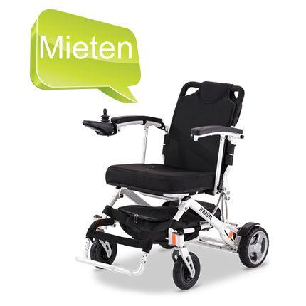 MIETE = Meyra iTRAVEL Elektrorollstuhl, für Reise und Freizeit, faltbar, leicht und wendig, MIETPREIS pro WOCHE (anrechenbar bei Kauf) 001