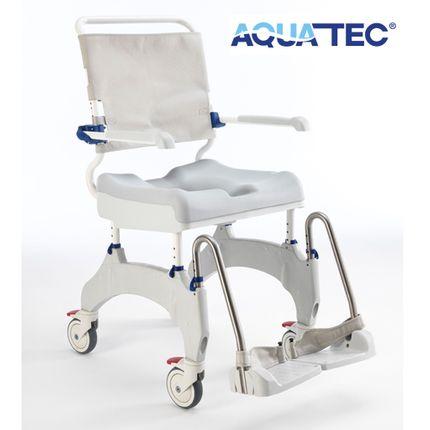 """Aquatec Ocean Ergo-5 Dusch- und Toilettenrollstuhl, 5"""" Räder inkl. Feststeller, Schiebeversion, bis 150 kg"""