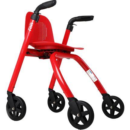 Mobilex Balance Indoor Rollator, Leichtgewicht Alu Wohnungsrollator, mit Sitzfläche & Rückenschale, bis 120 kg, Eigengewicht nur 8 kg 001