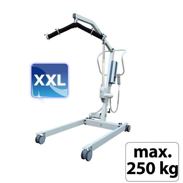 AKS Goliath XXL Patientenlifter (bis 250kg), der stabile Schwerlast-Patientenlifter, Komfortbügel, e-Spreizung