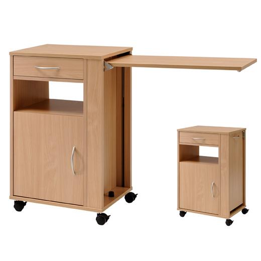 nachttisch hermann von burmeier mit ausziehbarem tisch. Black Bedroom Furniture Sets. Home Design Ideas