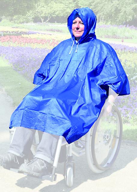 Regen Poncho Rainstar Easy einfacher Notfall-Regenponcho, für Rollstuhlfahrer