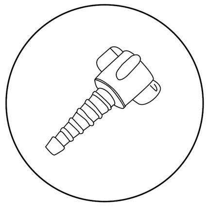 HUM Sauerstoff-Anschlusstülle, Konnektor