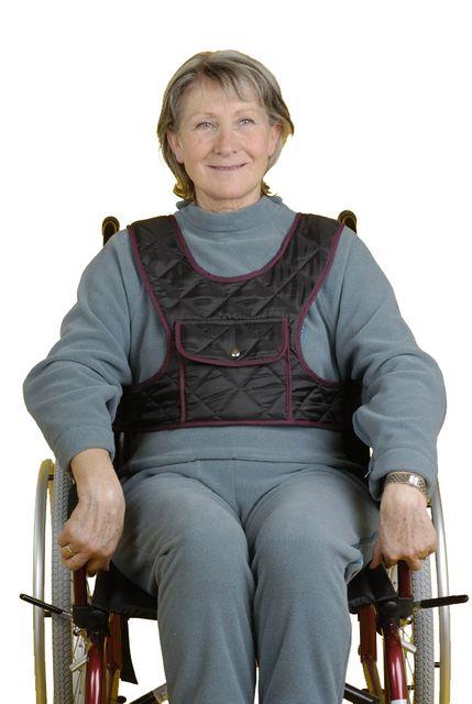 Fixierweste Auxilia mit Tasche Stabilisierung des Oberkörpers im Rollstuhl