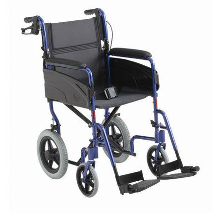 Invacare Alu Lite Reise-Rollstuhl Basis-Transitrollstuhl aus Aluminium