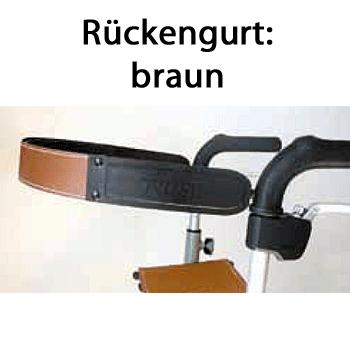TrustCare Rückengurt braun für Lets Go Out Rollator