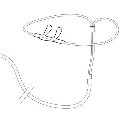 Staudruck-Nasenbrillen (P=10) Einweg-Nasenbrille für Löwenstein SOMNOcheck micro