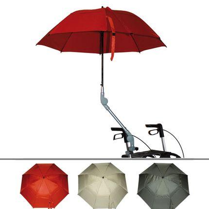 Rollatorschirm farbig (Regen/Sonnenschirm) Rolko, Schirm für fast alle gängigen Rollatoren