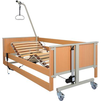 AKS L4 Pflegebett, das variable Leichtgewichtsbett mit Holz-Liegefläche, das Senioren-Pflegebett, bis 150kg