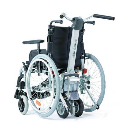 Alber Viamobil eco V14, komplett mit Rollstuhl, fertig vormontiert & fahrbereit, inkl. Halterung, Schiebegriff, Kippstützen, neue Bedieneinheit, Akku und Ladegerät