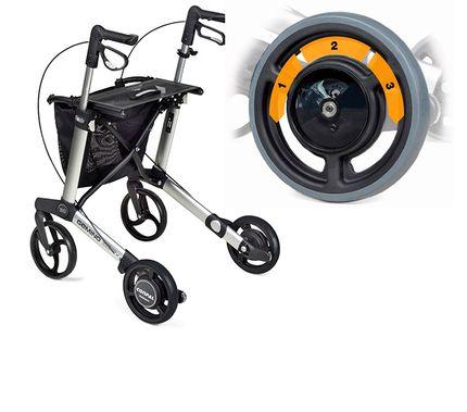 Räder Bremssystem SpeedControl für Sunrise Medical Gemino 30 Rollator (Räderssatz einzeln ohne Rollator) zum Anbau an Gemino 30 & Gemino 30 Walker