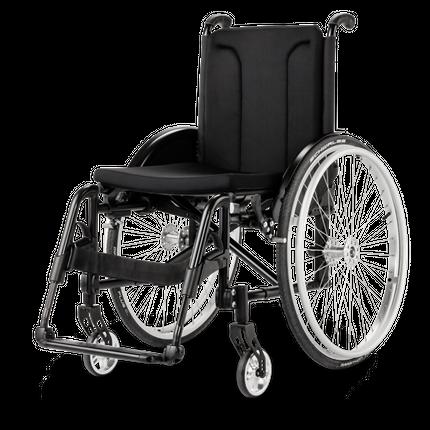 Meyra Avanti 1.736 Rollstuhl, mit abnehmbaren Beinstützen, faltbar, Aktiv-Adaptiv-Rollstuhl, bis 135kg